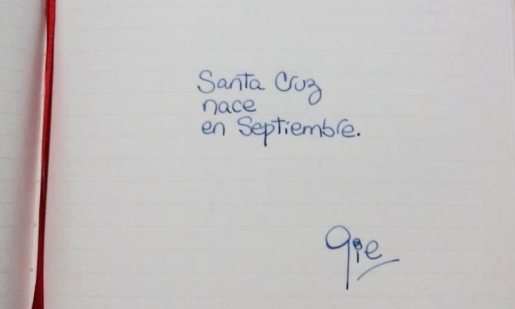 Santa Cruz nace en septiembre